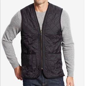 Barbour black quilted fleece lined vest XXL
